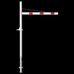 Hoogtebegrenzer variabel 1,8 - 2,8 mtr. - Horizontaal Draaibaar 1 Delig - Montage in de grond Doorrijhoogte, Hoogte, Begrenzer, Beperking, parkeergarage, Portaal, Hoogtebalk, C19-vrij invoerbaar, C19, L01