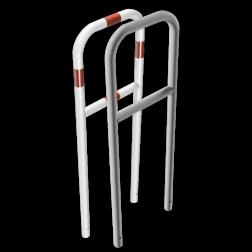 Fietsbeugel staal - 500x1400mm - in de grond fietsbeugel, fietsnietje, beschermbeugel, beschermhek, fietshek, fietssluis