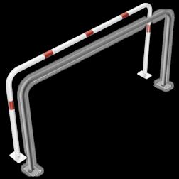 Geleidehek staal - 2000x1000mm - bodemmontage rek, fietsenrek, nietje, beugel,fietsbeugel, beschermbeugel, beschermhek, geleidehek