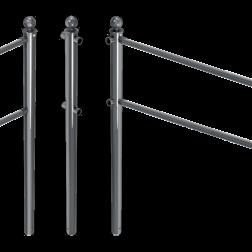 Buisligger Ø33,7mm voor geleidehek TS60 - antracietgrijs RAL 7016 of gegalvaniseerd beschermhek, geleidehek, ligger, buisligger