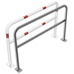 Geleidehek staal - tussenligger - 1500x1000mm - bodemmontage rek, fietsenrek, nietje, beugel,fietsbeugel, beschermbeugel, beschermhek, geleidehek