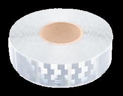 Contourmarkering wit (zilver) - 50x50mm stickers - op rol 12,5 of 50 meter Contour, Contourmarkering, Reflecterend, rol, Conspicuity, Tape, voertuigmarkering, geel