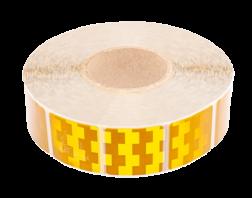 Contourmarkering geel - 50x50mm stickers - op rol 12,5 of 50 meter Contour, Contourmarkering, Reflecterend, rol, Conspicuity, Tape, voertuigmarkering, geel