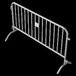Dranghek staal 15,5kg - 200cm - 14 spijlen afzetmateriaal, tijdelijke, afzetting, dranghek, drang, afzethek