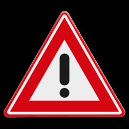 Verkeersbord Algemeen gevaarteken Verkeersbord RVV J37 - Vooraanduiding gevaar J37