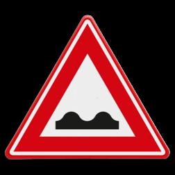 Verkeersbord Waarschuwing Slecht wegdek Verkeersbord RVV J01 - Vooraanduiding slecht wegdek J01