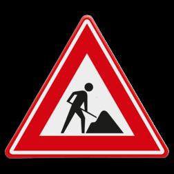 Verkeersbord Werk in uitvoering / Wegwerkzaamheden Verkeersbord RVV J16 - Werk in uitvoering J16