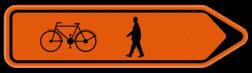 Verkeersbord SB250 F41 - Fiets & Voetganger Rechts