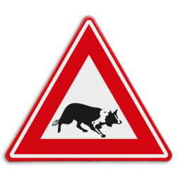 Verkeersbord Overstekende hond Verkeersbord - waarschuwing overstekende Bordercollie dier, hond