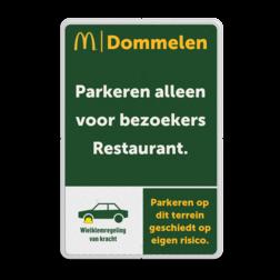 Informatiebord 2-3 McDonald's - Tekstbord + icoon mc donalds, restaurant