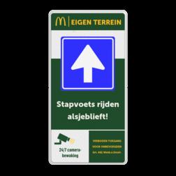 Informatiebord 1-2 McDonald's - Welkom bij.. + tekstblok mc donalds, restaurant