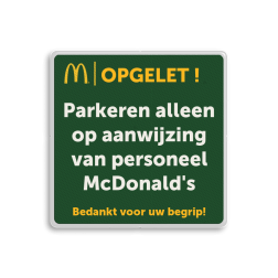 Informatiebord 1-1 McDonald's - Tekstbord mc donalds, restaurant