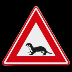 Verkeersbord Overstekende otter Verkeersbord - waarschuwing overstekende otter otter, dier,