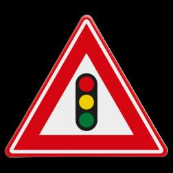 Verkeersbord Je nadert verkeerslichten Verkeersbord RVV J32 - Vooraanduiding verkeerslichten J32