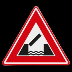 Verkeersbord U nadert een beweegbare brug Verkeersbord RVV J15 - Vooraanduiding beweegbare brug J15