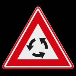Verkeersbord Je nadert een rotonde Verkeersbord RVV J09 - Vooraanduiding rotonde J09