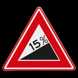Verkeersbord Vooraanduiding Steile helling Verkeersbord RVV J06 - Vooraanduiding Steile Helling
