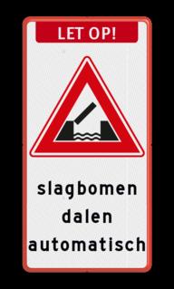 Verkeersbord Vooraanduiding beweegbare brug Verkeersbord RVV J15 - Beweegbare Brug + banner + eigen tekst