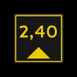 Scheepvaartbord Bij sommige vaarwegen wordt de beschikbare waterdiepte aangegeven op een dieptebord Scheepvaartbord BPR G.5.3 - Aanduiding diepte geel/zwart G. 5.3 water, diepte, waterweg, waterwegen, scheepvaarttekens, vaarweg, vaarteken