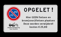 Parkeerplaatsbord E03 + wegknipregeling en eigen tekst