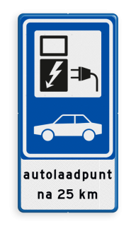 Verkeersbord RVV BW101_SP19 - auto laadpunt - txt - BE02a BE02a Elektrische, groene stroom, BW101, oplaadpunt, auto laden, autolaadpunt, laadpaal, oplaadpalen, Oplaadpaal, BE04