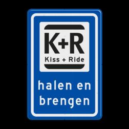 Verkeerbord Kort parkeergelegenheid ten behoeve van het afzetten en ophalen van iemand. Verkeerbord RVV L52 KISS & RIDE - halen en brengen L52
