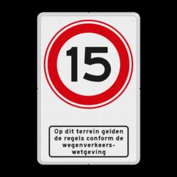 Verkeersbord RVV A01-xxx + picto - BT13 BT13 wegenverkeerswetgeving