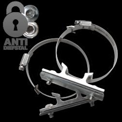 Bordbeugelset VARIABEL - Anti-diefstal - RVS klembanden (set 2 stuks) bevestiging, paalbevestiging, bordband, bandit, bandbeugel, lichtmast, lantaarnpaal, bandimex, tam-torque, torque,