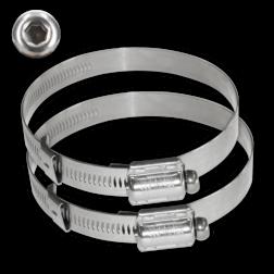RVS klembanden - Anti-diefstal tam-torque - Variabele diameter - Set 2 stuks RVS klemband, bevestigingsmateriaal, banditbeugel, bandbeugel, lantaarnpaal, klemband, bandimex