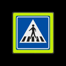 Verkeersbord Voetgangers oversteekplaats / zebrapad Verkeersbord RVV L02f - Voetgangers oversteekplaats / zebrapad L02f