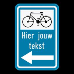 Verkeersbord F34b2: Bewegwijzeringsbord voor de aanbevolen reisweg voor bepaalde categorieën van weggebruikers. Het verkeersbord wordt aangevuld met de symbolen van een fietser, ruiter of voetganger . De afstand in km kan op de wegwijzer aangeduid zijn. Verkeersbord SB250 F34b2 - Aanbevolen reisweg voor bepaalde weggebruikers F34c2