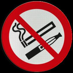 Product Roken en E-sigaret verboden. (geen officieel NEN-EN-ISO pictogram) Pictogram - Roken en E-sigaret verboden