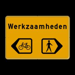 Omleidingsbord - Werkzaamheden fietsers/voetgangers