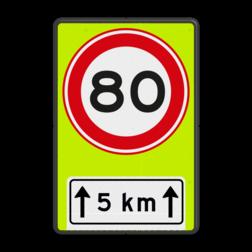 Verkeersbord RVV A01-80f + OB411
