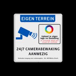 Product 24/7 Camerabewaking Camerabewaking bord + bedrijfslogo - eigen terrein 24/7 camerabewaking camera, video, bewaking, property, protected, veiligheid, eigen, terrein, bedrijf, toezicht
