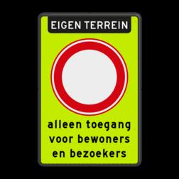 Verkeersbord Gesloten in beide richtingen voor voertuigen, ruiters en geleiders van rij- of trekdieren of vee Verkeersbord RVV C01f_2txt - Gesloten voor alle verkeer - fluor achtergrond C01f