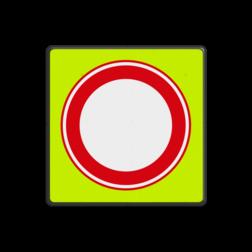 Verkeersbord Gesloten in beide richtingen voor voertuigen, ruiters en geleiders van rij- of trekdieren of vee Verkeersbord RVV C01f - Gesloten voor Alle verkeer - fluor achtergrond C01f