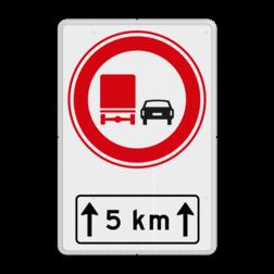Verkeersbord RVV F03OB411 met ondertekst F03OB411