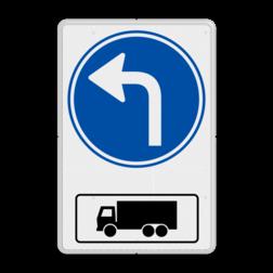 Routebord Route voor vrachtwagens + RVV D05 (links) Routebord RVV D05al met vrachtwagen - BT15l BT15al