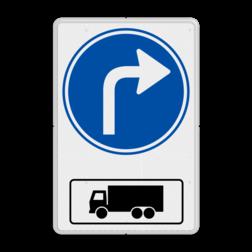 Routebord Route voor vrachtwagens rechts Routebord RVV D05ar met vrachtwagen - BT15r BT15ar