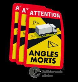 DODE HOEK signalering - 170x230mm - Reflecterend - Set 3 stuks dode, hoek, dodehoek, sticker, vracht, verkeer,