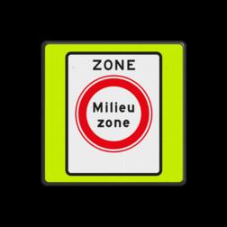 Verkeersbord Zone gesloten voor vrachtauto's die niet voldoen aan de eisen, genoemd in artikel 86d Verkeersbord RVV C22azbf - zone - Gesloten voor vervuilende vrachtauto's C22azbf