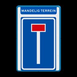 Verkeersbord RVV L08 - Mandelig terrein doodlopende weg, l8, versperring, geen doorgang
