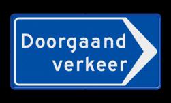 Verkeersbord Route doorgaand verkeer; ga hier rechts Verkeersbord RVV BB100r BB100r