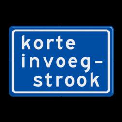Verkeersbord Korte invoegstrook Verkeersbord RVV BB05 Korte invoegstrook BB05