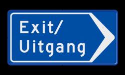 Verkeersbord Route exit /uitgang; ga hier rechts Verkeersbord RVV BB101r