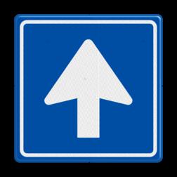 Verkeersbord Eenrichtingsweg, u mag alleen vanaf deze zijde inrijden. Verkeersbord RVV C03 - Eenrichtingsweg C03