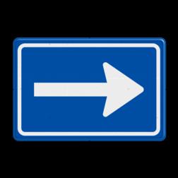 Verkeersbord Eenrichtingsweg volg verplichte rijrichting rechts Verkeersbord RVV C04 - Eenrichtingsweg (volgen) C04r