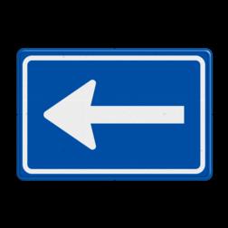 Verkeersbord Eenrichtingsweg volg verplichte rijrichting links Verkeersbord RVV C04 - Eenrichtingsweg (volgen) C04r