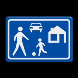 Verkeersbord Woonerf Verkeersbord RVV G05 - Woonerf G05